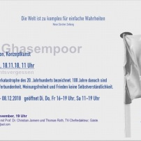 Flyer Ausstellung Bettina Ghasempoor Rückseite