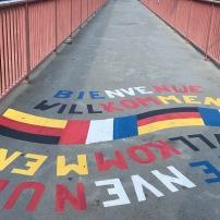 Saar - Freundschaftsbrücke 50-jähriges Jubiläum zwischen Frankreich und Deutschland