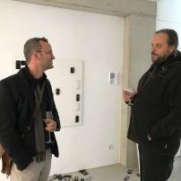 Künstler Sebastian Böhm und Friedensaktivist Markus Pflüger im Gespräch